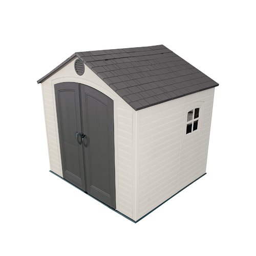 Lifetime 7 ft. 8 in. W x 7 ft. 2 in. D Plastic Storage Shed