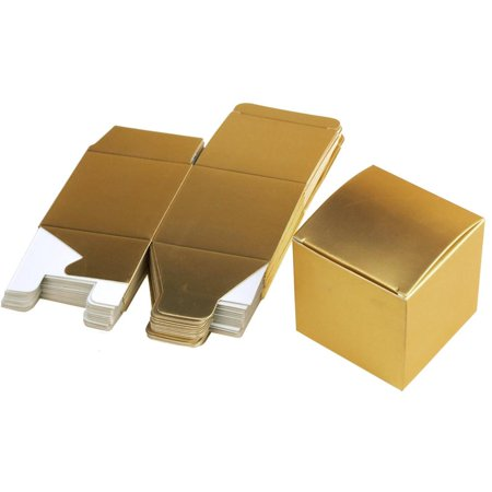 - Cube Paper Gift Boxes, 3-Inch, 24-Piece, Gold