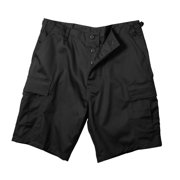 Black Military Style BDU Shorts