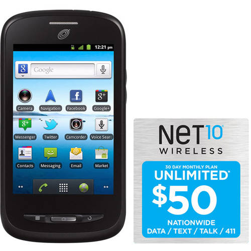 Net10 ZTE Merit Z990G Prepaid Cell Phone with $50 Unlimited Card, Refurbished