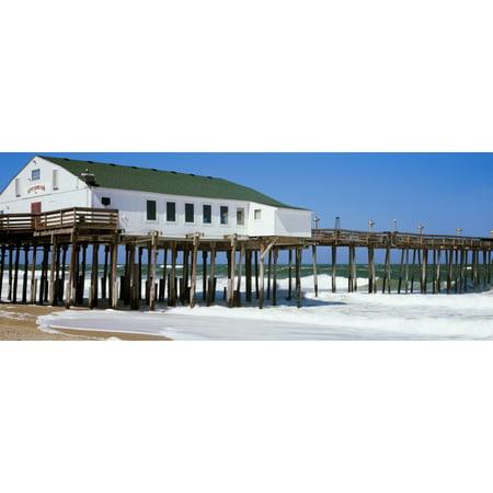 Kitty Hawk Pier On The Beach Kitty Hawk Dare County Outer Banks North Carolina Usa Poster Print