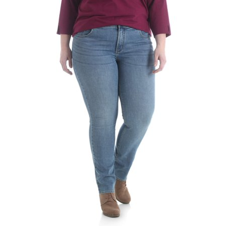 968e365a9745a Lee Riders - Lee Riders Women s Plus Midrise Slim Straight Jean ...