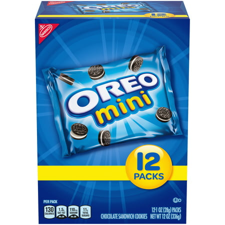 Nabisco Mini Oreo Chocolate Sandwich Cookies, 1 Oz., 12 Count ()