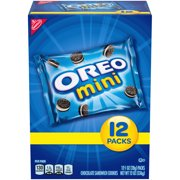 OREO Mini Chocolate Sandwich Cookies Snack Packs, 12 - 1 oz Packs