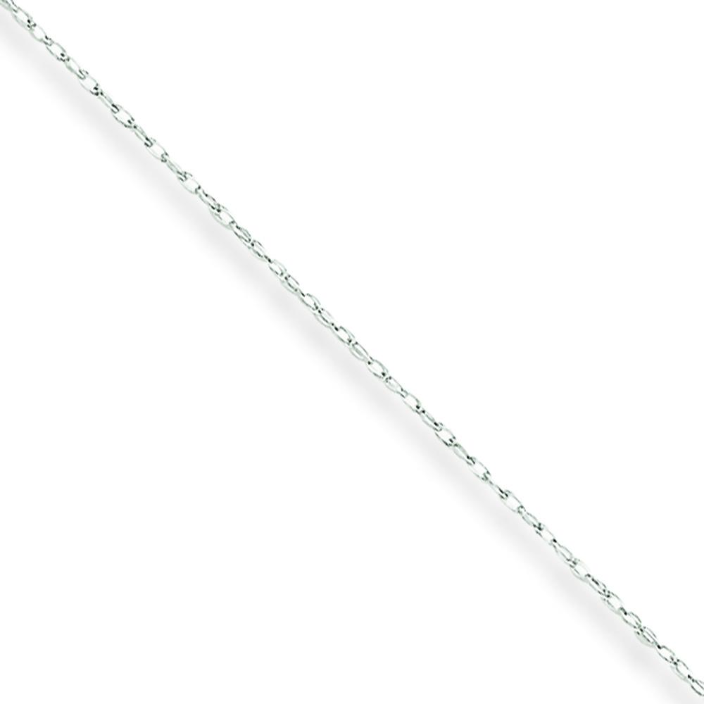 10K White Gold Carded Cable Rope Chain Necklace Jewelry 20""