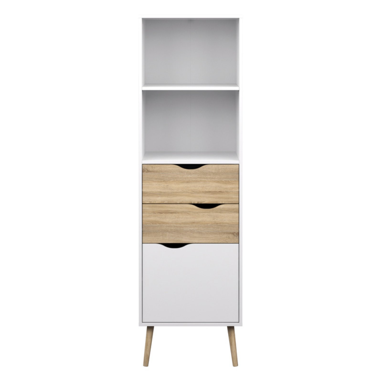 Tvilum Diana 2 Drawer Bookcase