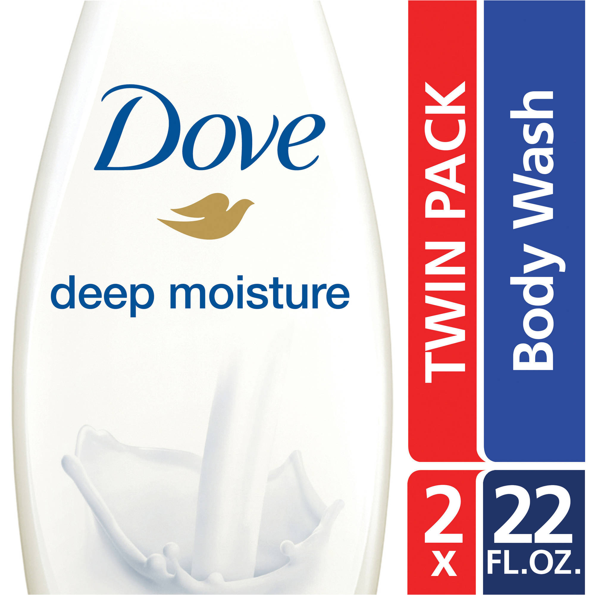 Dove Deep Moisture Moisturizing Body Wash, 22 oz, twin pack