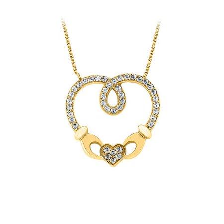 Lovebrightjewelry Gorgeous Swarovski Heart Pendant In 14K Yellow Gold Affordable Price Range Beautiful Design