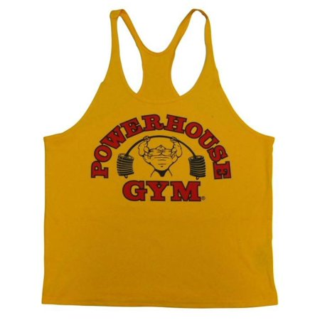 PowerHouse Gym Stringer Y-Back Tank Top-Gold-XL