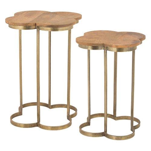Dimond Home Geometric Quatrafoil Accent Table Set of 2 by Dimond Home