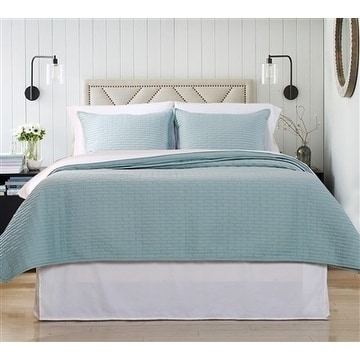 Affluence Luxury Quilted Coverlet & Separate Sham Set
