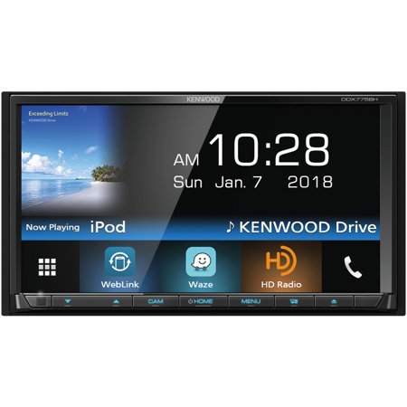 Kenwood Ddx775bh 6 95  Double Din In Dash Dvd Receiver With Bluetooth  Hd Radio   Siriusxm Ready