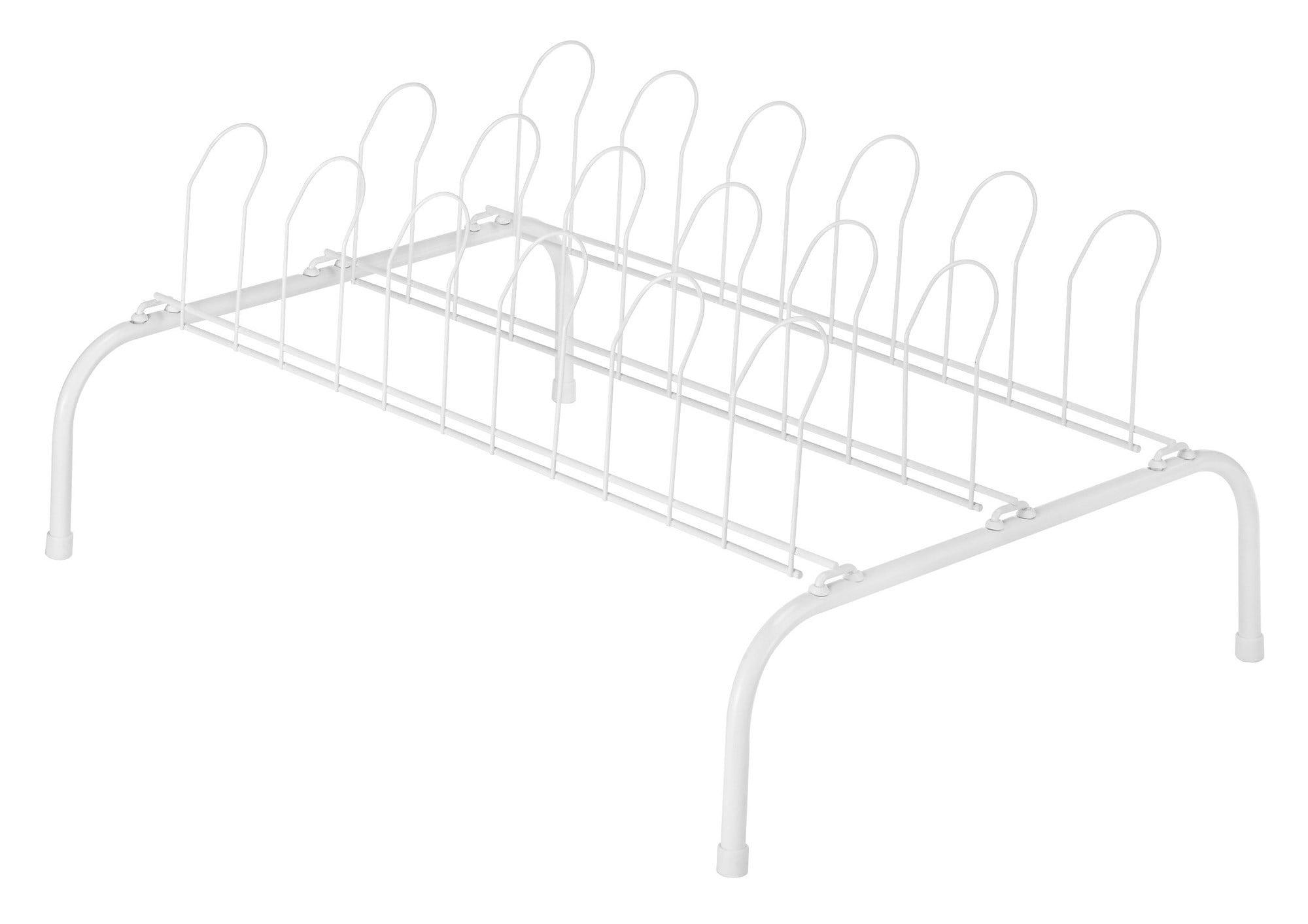 Whitmor 4 Packs 9PR White Floor Shoe Rack by Whitmor