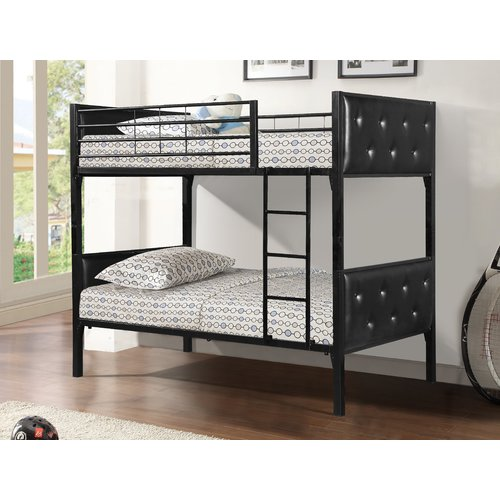 Zoomie Kids Carriage Twin over Twin Bunk Bed
