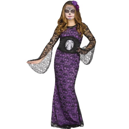 La Muerte Girls Day Of The Dead Mistress Halloween Costume - La Boardwalk Halloween