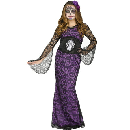 La Muerte Girls Day Of The Dead Mistress Halloween Costume - Days Til Halloween