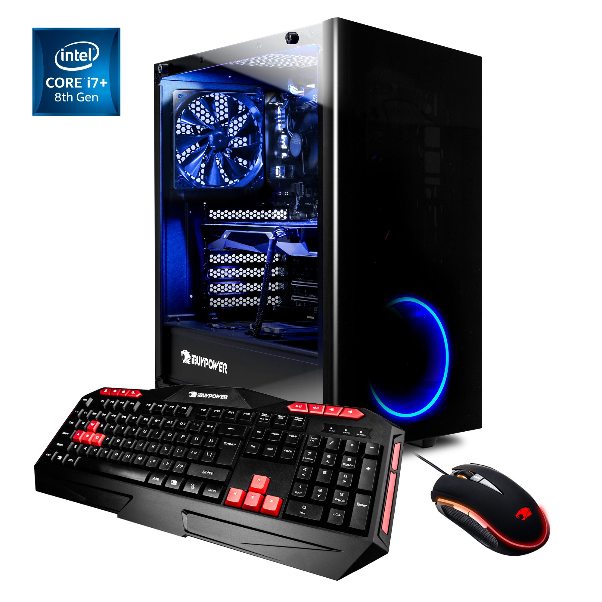 iBUYPOWER View21013i - Gaming Desktop PC - Intel i7 8700 - 16GB DDR4 Memory - AMD Radeon RX580 4GB - 2TB Hard Drive and 16GB Optane Memory - Wi-Fi. - View21013i
