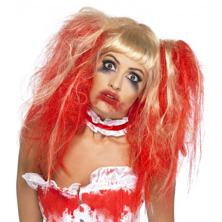 Ean 5020570357682 Smiffy S Blood Drip Wig Costume Blonde Red One