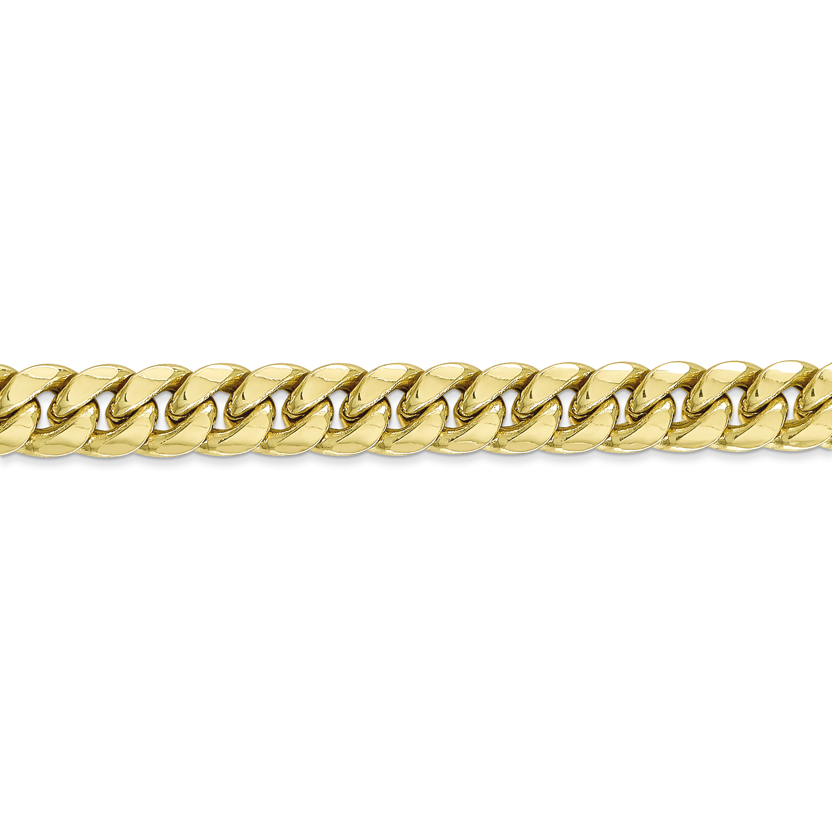 10K Yellow Gold 7.3 mm Miami Cuban Chain 26 IN - image 3 of 5