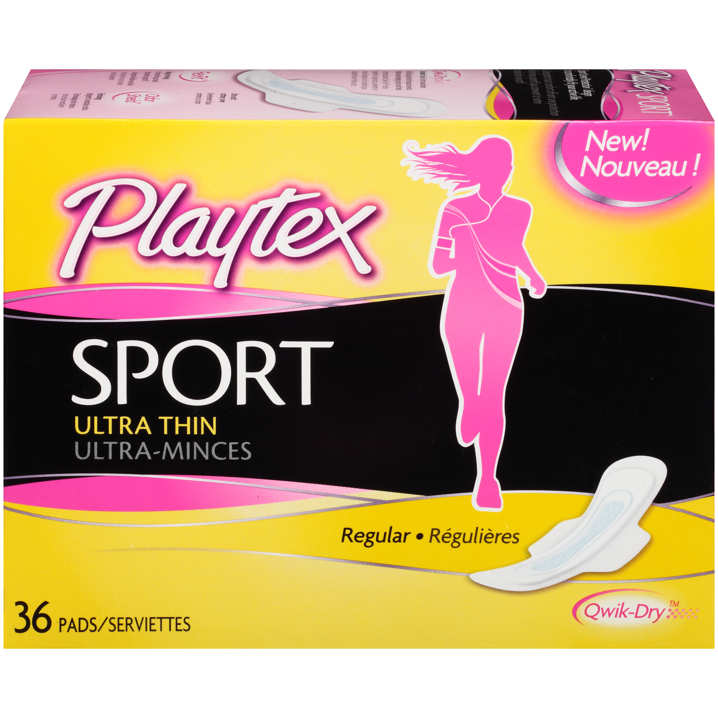 Playtex Sport Ultra Thin Pads With Wings Regular Absorbency - 36 Count
