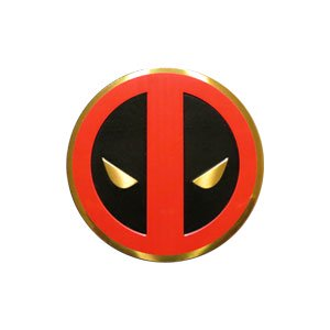 Sticker - Marvel - Deadpool - Icon on Gold Metal 3cm New Toys s-mvl-0031-m - image 1 of 1
