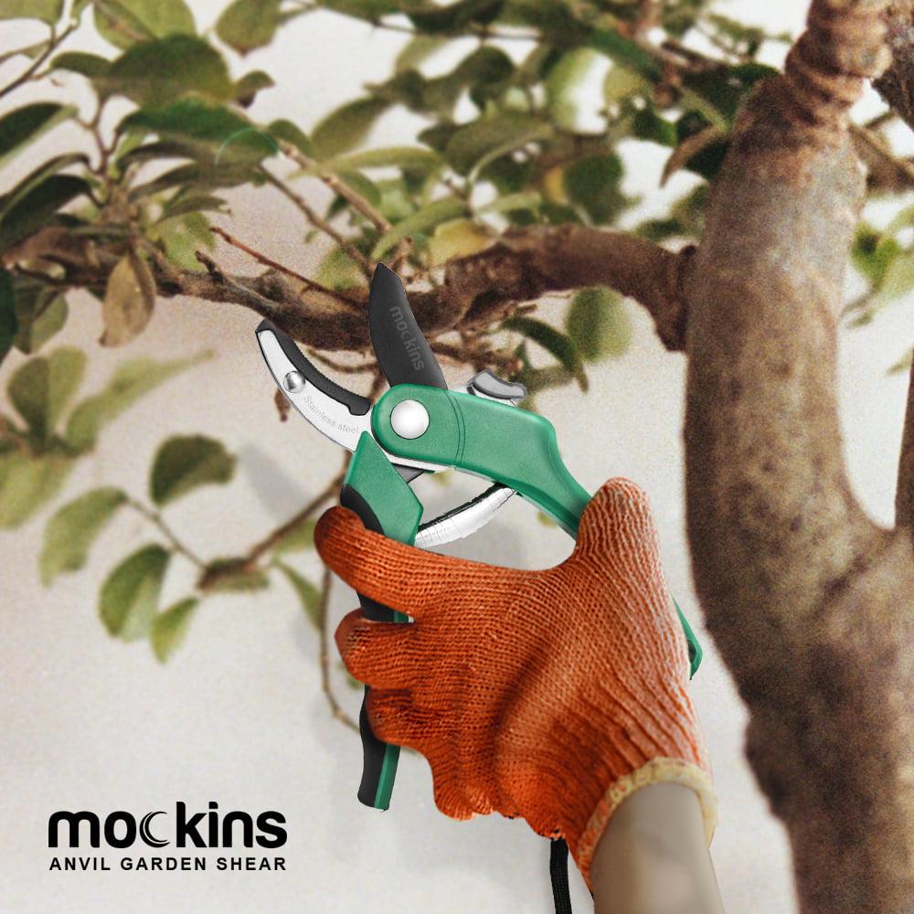Tree Trimmers Mockins Professional Heavy Duty Garden Anvil Pruning Shears