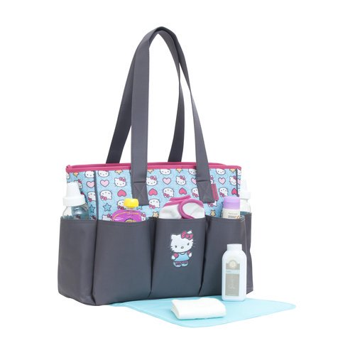 00fecd9137a6 Hello Kitty Toss Print 6-Pocket Tote Diaper Bag