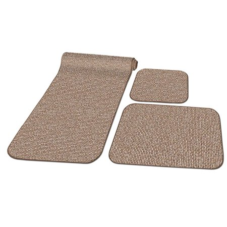 Prest O Fit 5 0262 Decorian 3 Piece Rv Rug Set Butter Pecan Brown