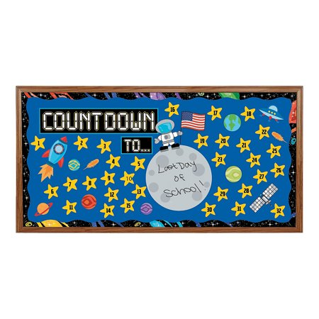 Fun Express - Countdown Bulletin Board Set - Educational - Classroom Decorations - Bulletin Board Decor - 1 Piece
