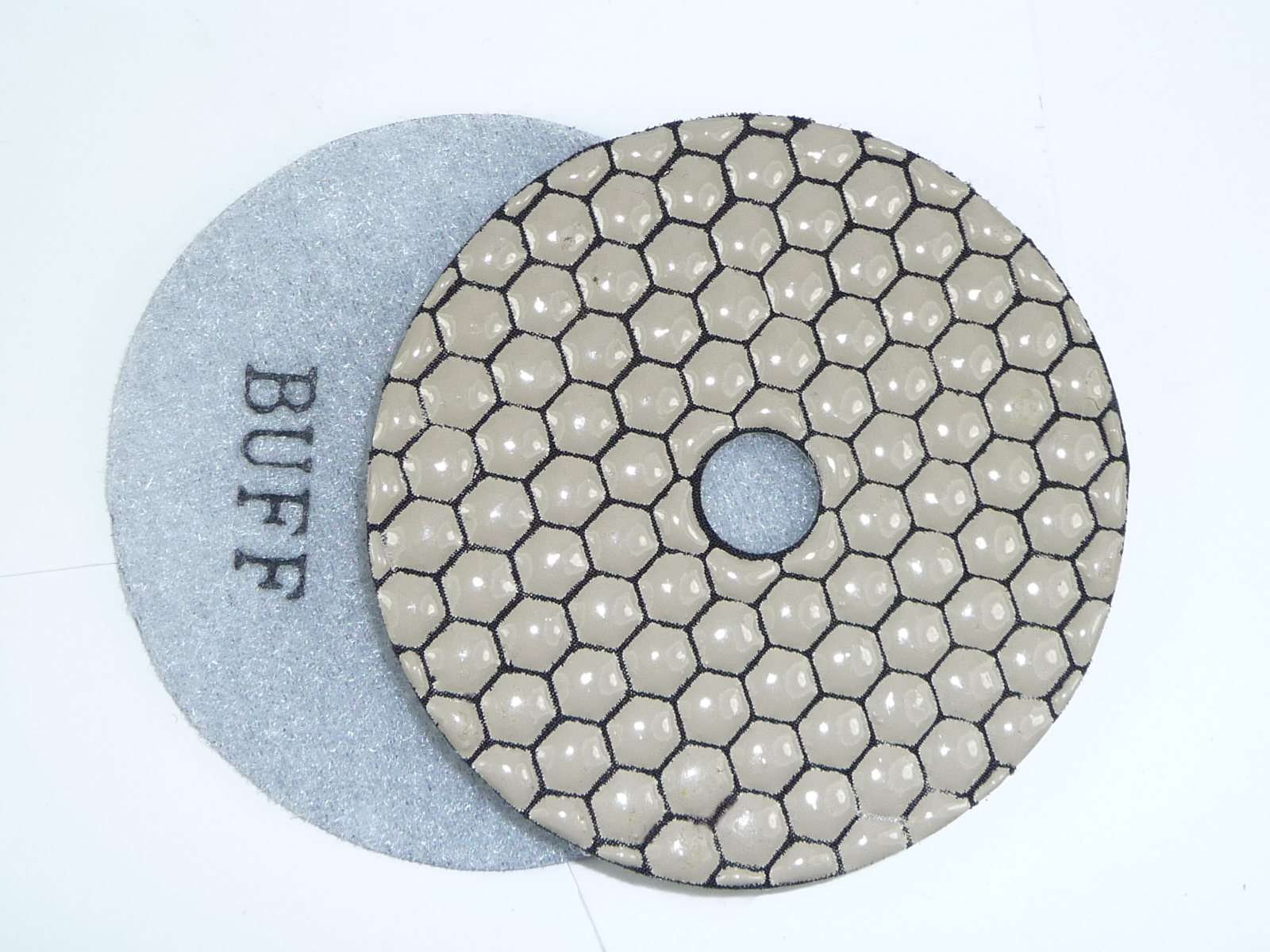 "4/"" Premium Dry Diamond Polishing Pad White Buff"