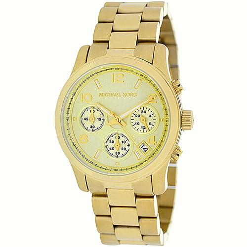 Michael Kors Women's Runway MK5055 Gold Stainless-Steel Analog Quartz Watch
