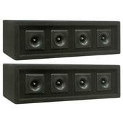 NEW (2) 4 Piezo DJ Tweeter Array Horn Cabinets.Pro Audio Loaded High Speakers.PA