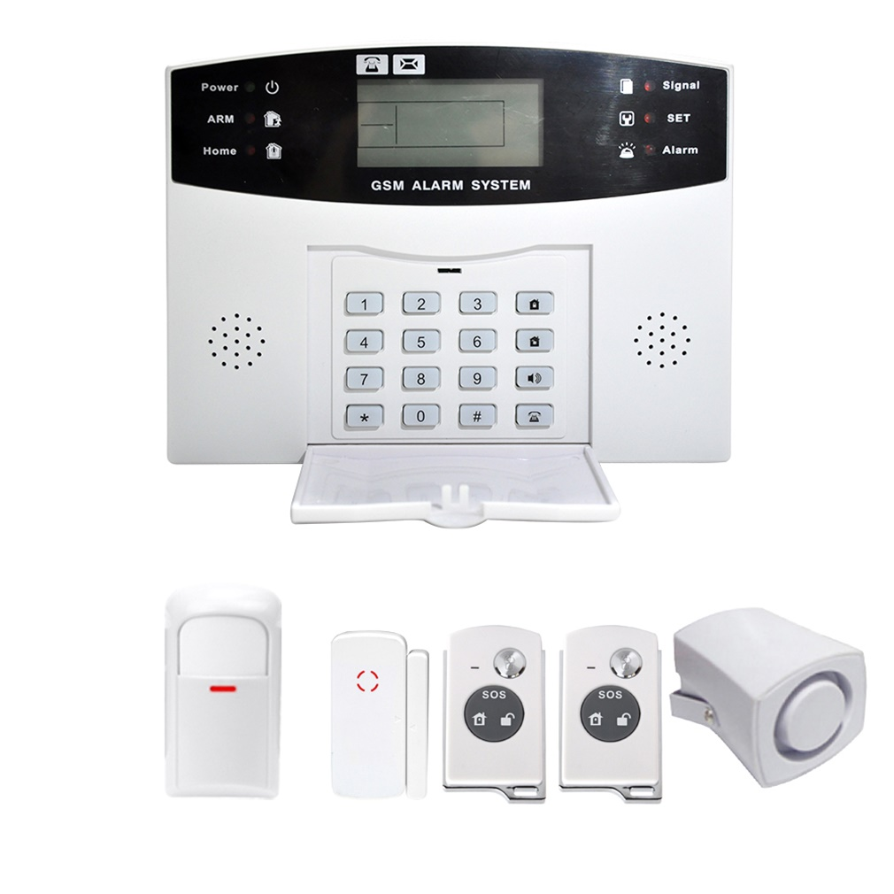 Wireless LCD GSM SMS Home Security Guard Burglar House Fire Alarm ...