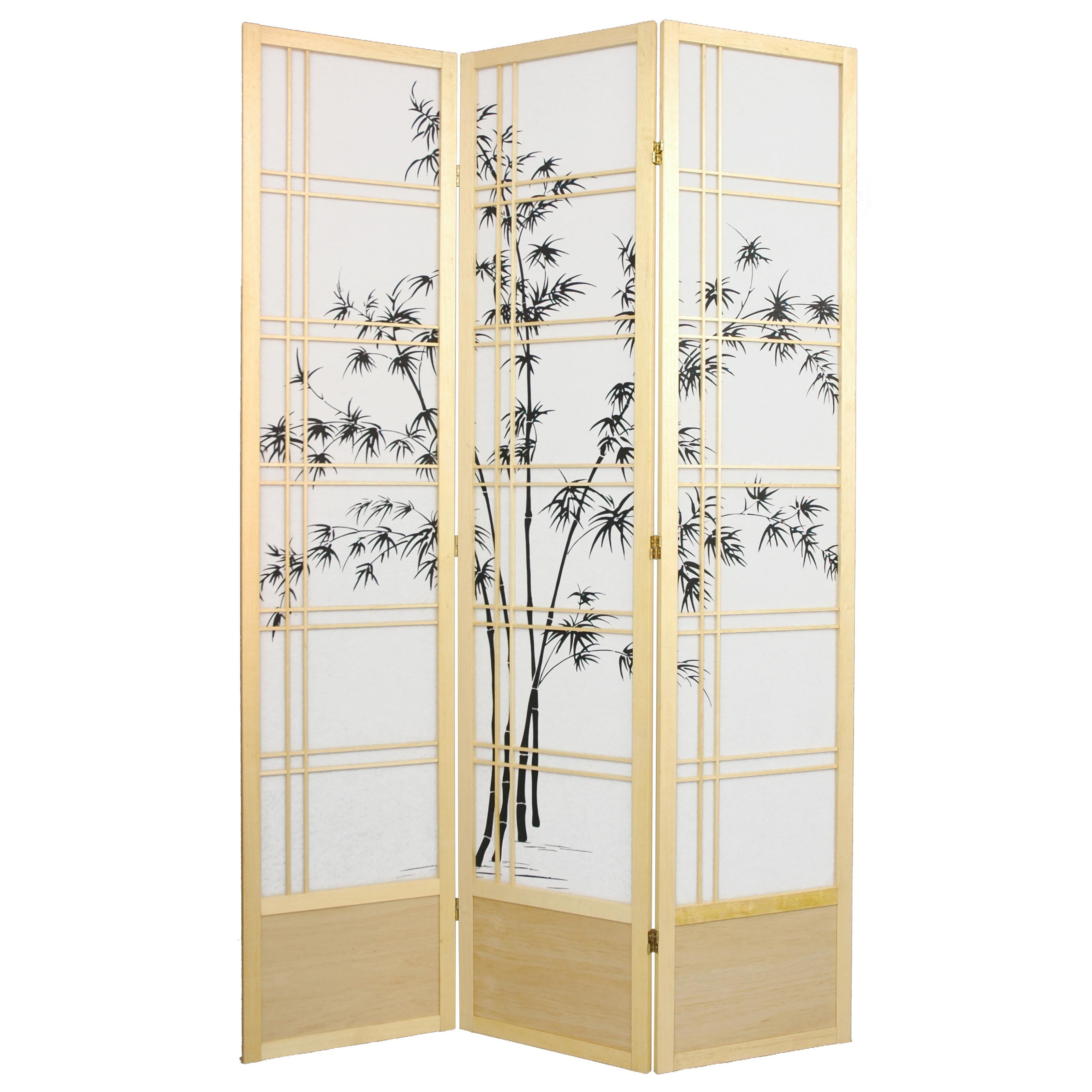 Oriental Furniture Bamboo Tree 84 inch Shoji Screen Room ...
