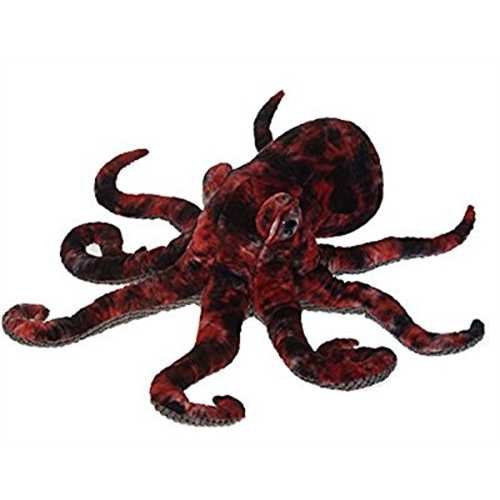 Red Octopus Plush Stuffed Animal Toy by Fiesta Toys - 16](Red Octopus Md)