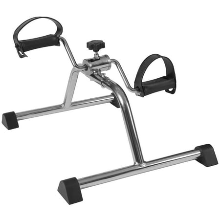 DMI Lightweight Mini Pedal Exerciser Leg and Arm Exerciser, Silver (Arm Exerciser)