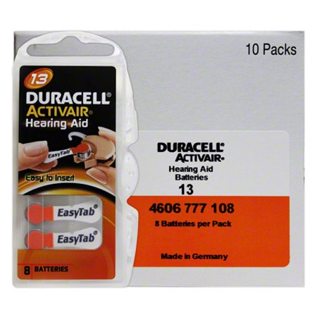 Duracell Hearing Aid Batteries Size 13 (80 Pack) (Best Hearing Aid Batteries 13)