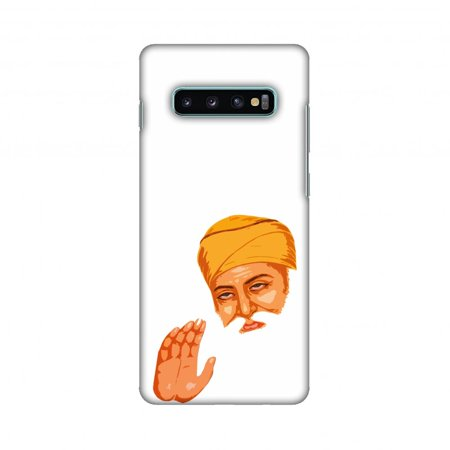 Samsung Galaxy S10+ Case, AMZER Ultra Slim Hard Shell Designer Printed Case for Samsung Galaxy S10+ - Guru Nanak Dev