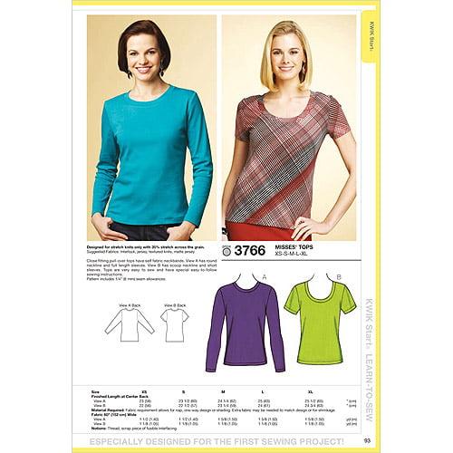 Kwik Sew Pattern Tops, (XS, S, M, L, XL)
