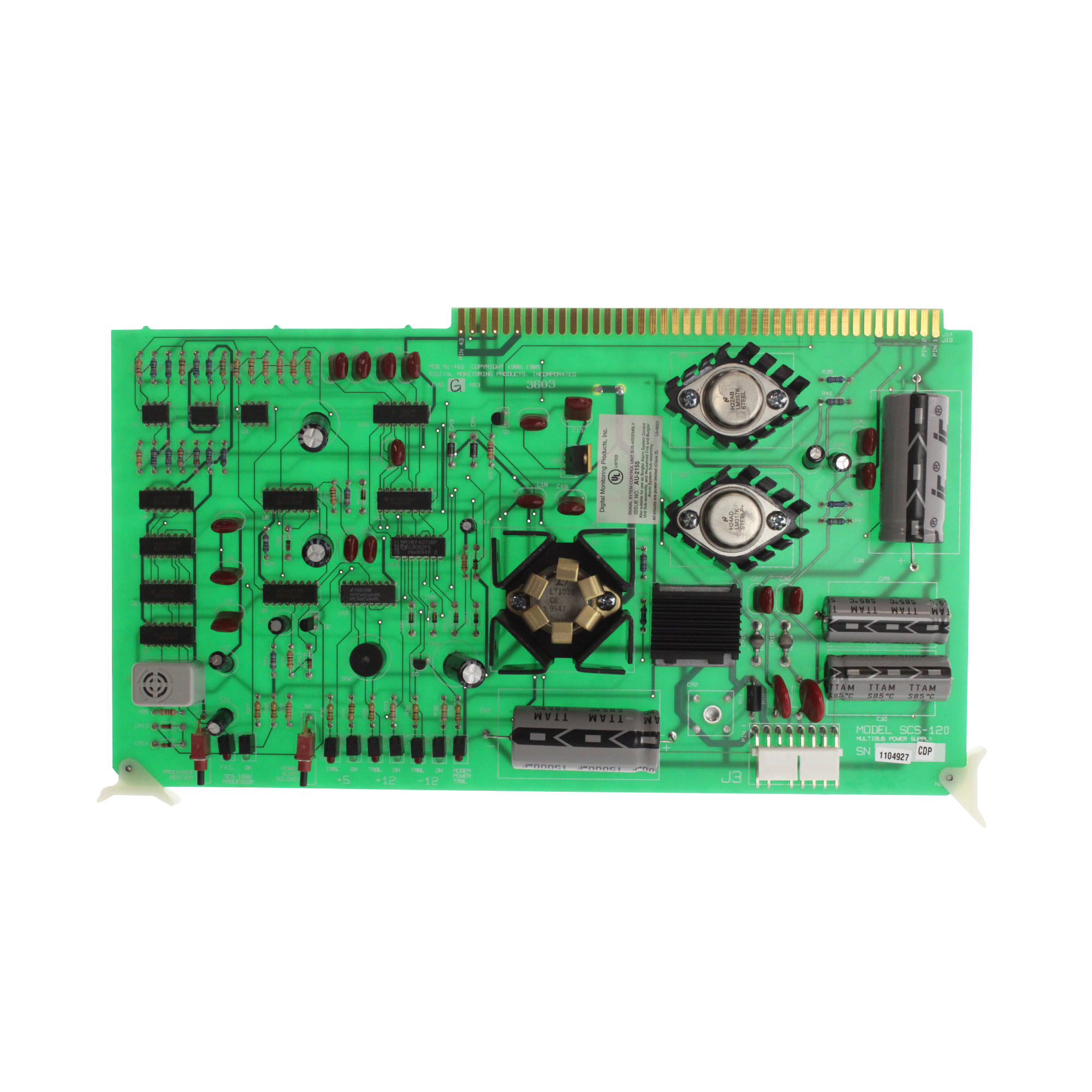 Digital Monitoring Products SCS-120 Multibus Power Supply Card for the SCS-1062