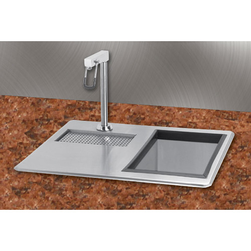 A-Line by Advance Tabco 21'' x 18'' Water Station Kitchen Sink with Ice Bin