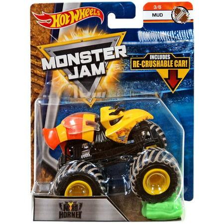 Hot Wheels Monster Jam 25 Nitro Hornet Die-Cast Car - Halloween Monster Mud Run