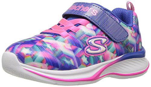 Skechers Kids Girls' Jumpin' Jams Sneaker,Blue/Multi,13 Medium US Little Kid