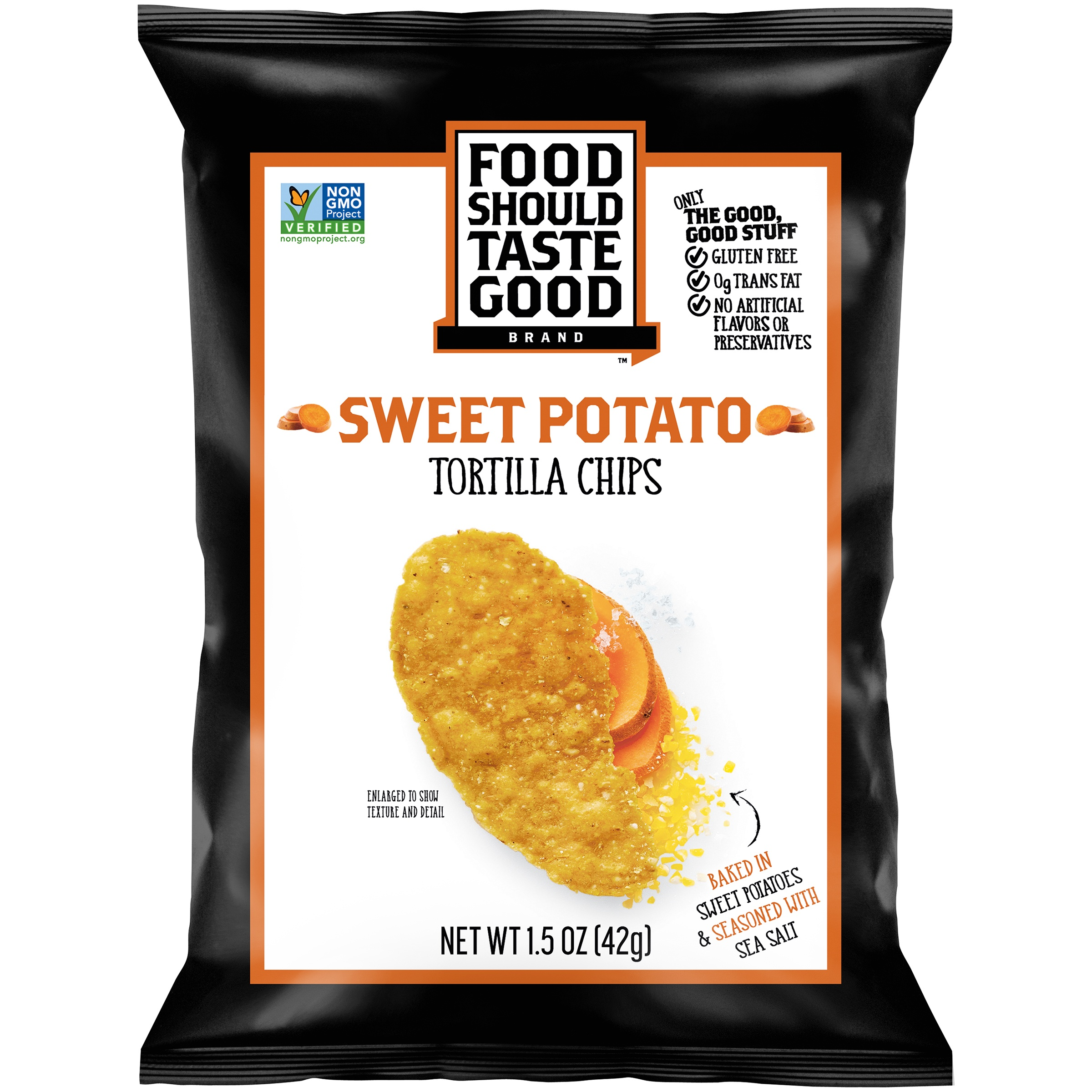Food Should Taste Good™ Sweet Potato Tortilla Chips 1.5 oz. Bag