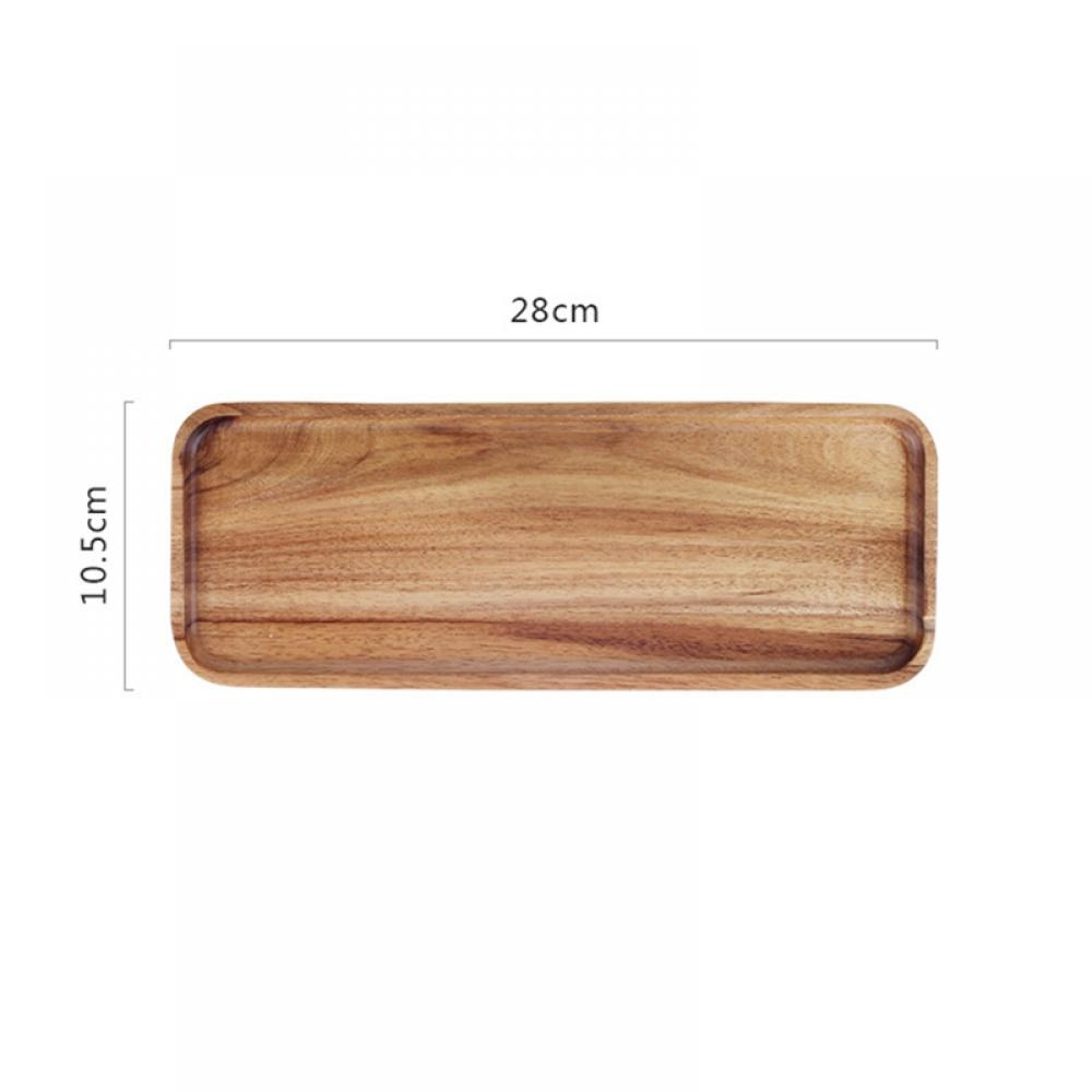 Details about  /Kitchen Tool Storage Rectangular Dishes Serving Tray Tea Food Drink Wooden Plate