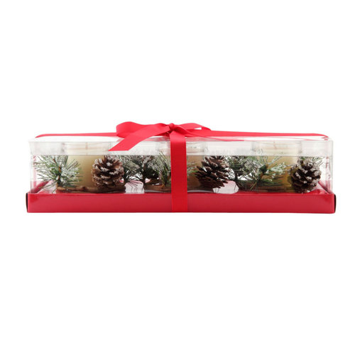 Better Homes and Gardens Pine Ring Glass Votive Set, Clear, 3pc