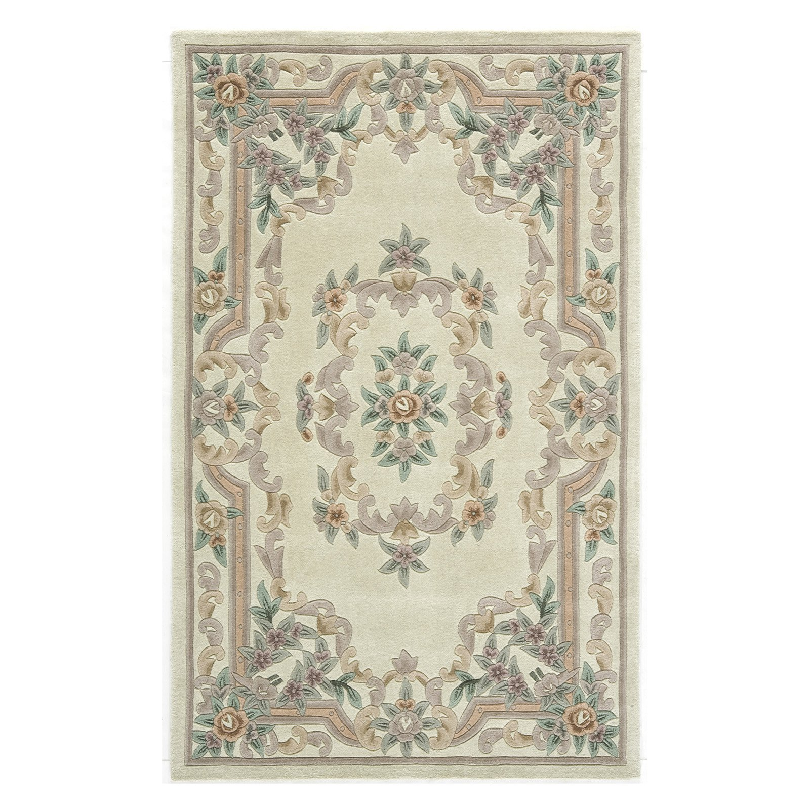 Rugs America New Aubusson Tufted Wool Rug
