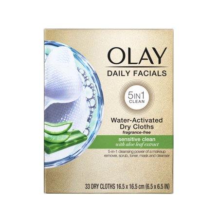 Olay Daily Facials Sensitive Cleansing Cloths, 33