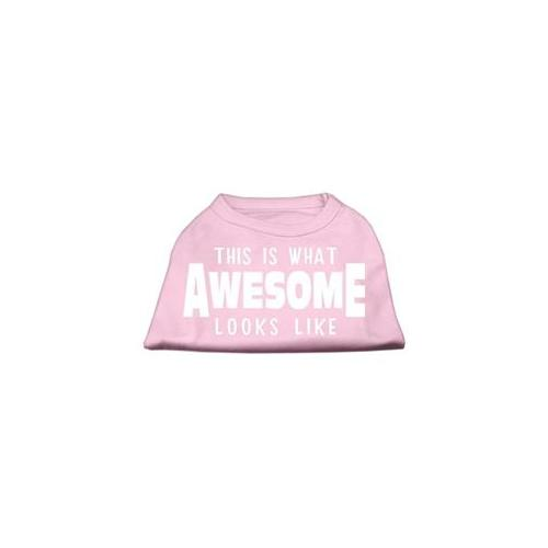 Image of Mirage 51-127 XXXLLPK This is What Awesome Looks Like Dog Shirt Light Pink 3XL