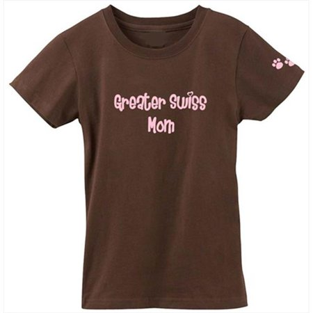 Greater Swiss Mountain Dog Mom Tshirt Ladies Cut Short Sleeve Adult XL